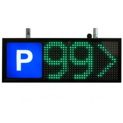 Parking zone animated display VMS